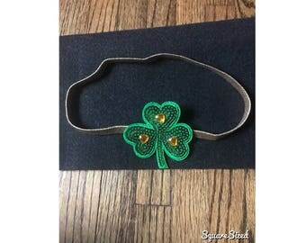 St.Patrick's Day stetchy head band