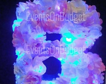 Monogram Letters and Numbers/ Flower letters /lighted flower letters/ Baby Shower Signs/Bridal Shower Signs
