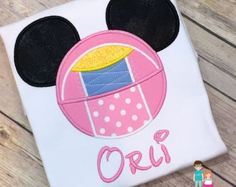 Bo Peep Shirt, Toy Story Shirt, Bo Peep Personalized Mouse Head Shirt, Embroidered Mickey Mouse Head Toy Story Shirt, Disney Family Shirts