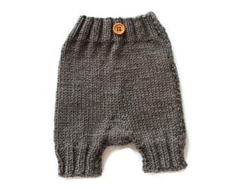 Baby Shorties - Baby Boy Shorts, Baby Girl Shorts - Knitted Diaper Cover - Knitted Diaper Shorts - Knitted Diaper Soaker