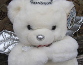 Sweet DanDee Christmas Musical Plush Angel Bear Plays eight Christmas Songs Silent Night, Joy To The World and More