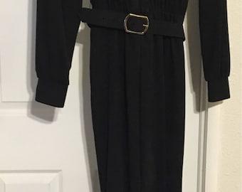 Caron Chicago Vintage Jumpsuit Black Size 6