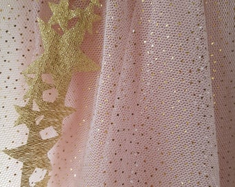 Shining Star Veil in Pink and Gold