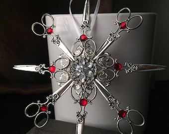Scissor Christmas Ornament - Steampunk Ornament - Steampunk Christmas - Victorian Christmas Ornament - Hair Stylist Ornament Barber Ornament
