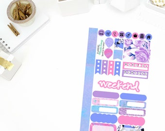 Sparkle Personal Weekly Kit Stickers! Perfect for your Erin Condren Life Planner, calendar, Paper Plum, Filofax!