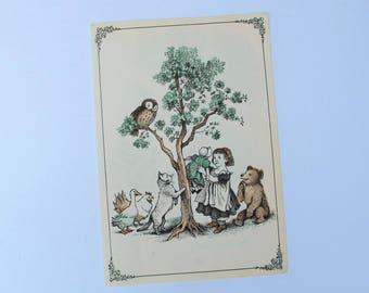 Little Bear vintage illustration, Little Bear by Maurice Sendak vintage art print