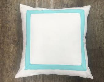 Ribbon Trim Euro Pillow Cover