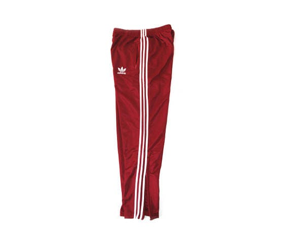 80s Adidas Wine red track bottoms