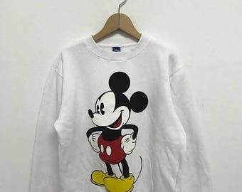 20% OFF Vintage Mickey Mouse Sweatshirt/Mickey Mouse Sweater/Mickey Mouse Disney/Cartoon Shirt/Mickey Mouse Big Print