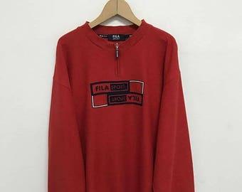 20% OFF Vintage Fila Sport Sweatshirt/Fila Sweater/Casual Clothing/Fila Sport Sweater/Fila Italia