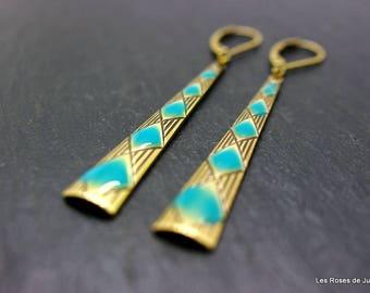Earrings art deco diamond, earrings