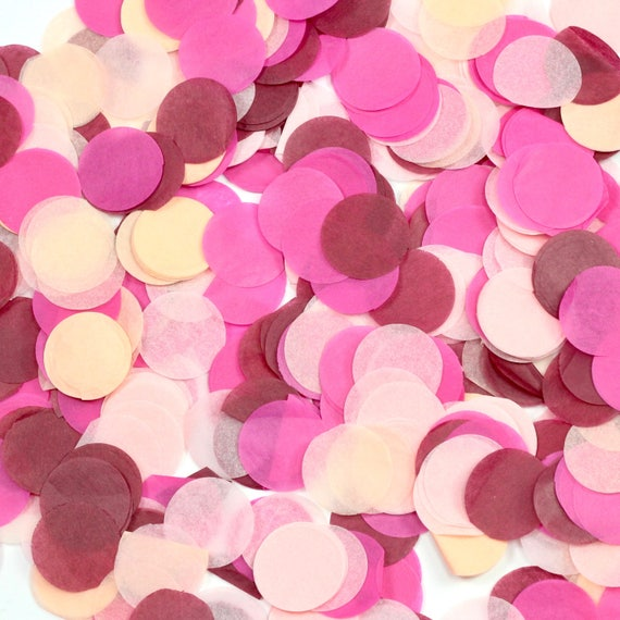 Pretty N' Pink Confetti, Pink Burgundy Confetti, Shred, Table Decor, Confetti Balloon, First Birthday Wedding Rose Gold Valentines Day Decor