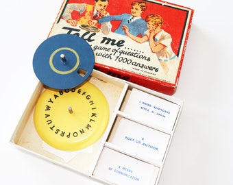 Vintage party game 1940s Tell Me