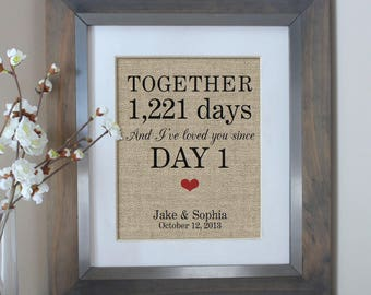 Days Together Personalized Gift for Boyfriend Gift, Anniversary Gift for Boyfriend, Husband Gift, Gift for Wife Gift, Man Gift, Gift for Men