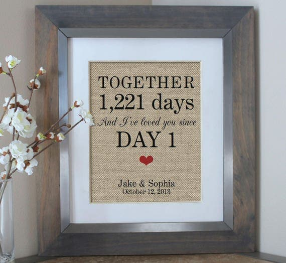 Days Together Personalized Gift for Boyfriend Gift