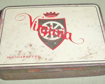 Vintage Pure Virginia 20 Cigarettes Tin