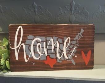 Custom State Sign | Custom Color | Hand Painted | Wedding Gift | Housewarming Gift