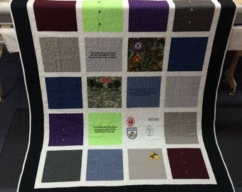 Custom Button-Up Shirt Quilt - pick your size!