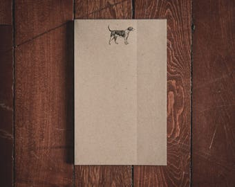 Small Dog Notepad - 8.5x5.5 inches