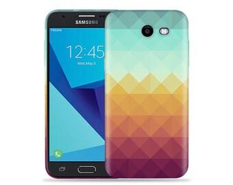 For Samsung Galaxy J3 Prime 2017 Case - J3 Prime 2017 Case #Pixel Waves Cool Design Hard Phone Case