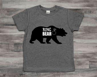 Ring bear etsy ring bear shirtring bearer t shirtring bearer monogram name shirt publicscrutiny Image collections