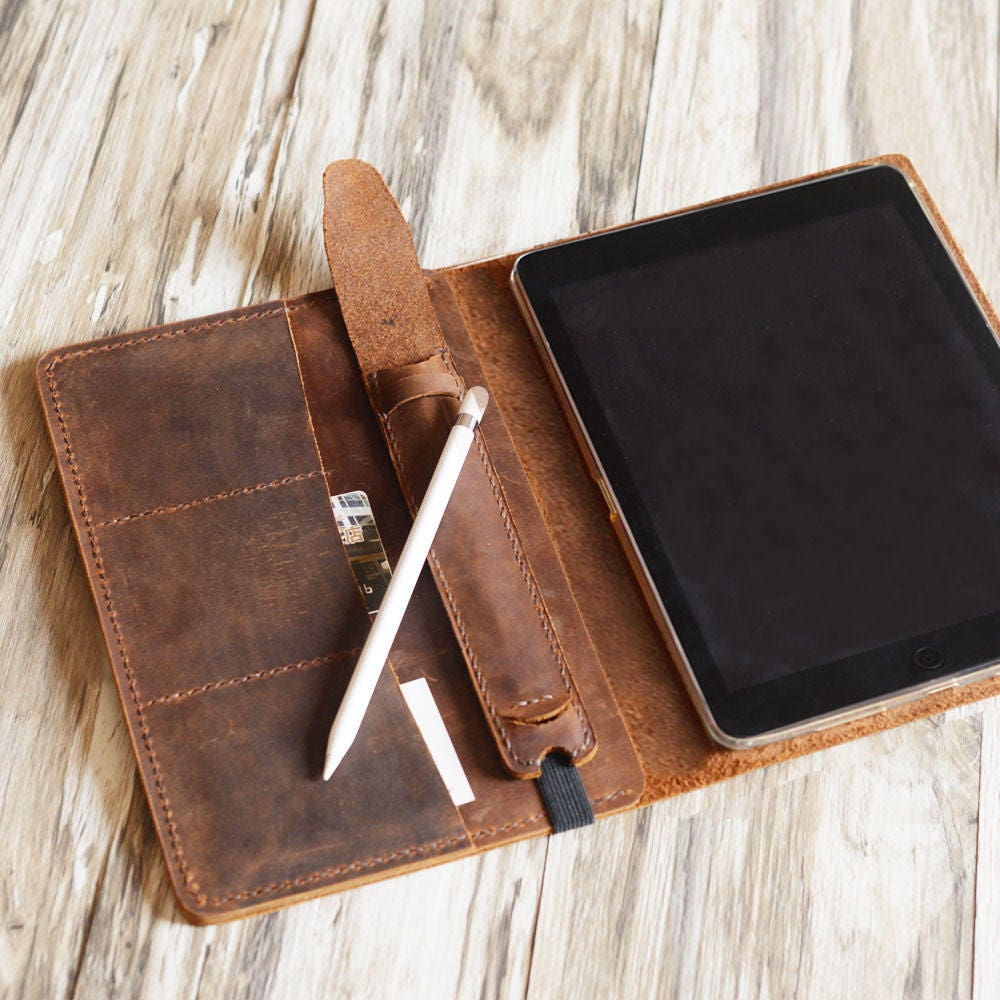 Personalized leather ipad mini case leather ipad case ipad personalized ipad pro 105 97 129 leather cover portfolio apple pencil holder ipad cover magicingreecefo Gallery