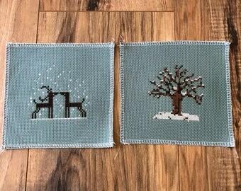 Winter Christmas Cross Stitch Set