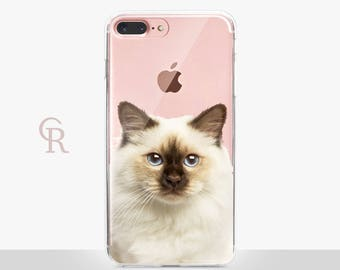 Cat Clear Phone Case For iPhone 8 iPhone 8 Plus iPhone X Phone 7 Plus iPhone 6 iPhone 6S  iPhone SE Samsung S8 iPhone 5 Transparent