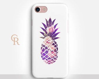 Pineapple Phone Case For iPhone 8 iPhone 8 Plus iPhone X Phone 7 Plus iPhone 6 iPhone 6S  iPhone SE Samsung S8 iPhone 5 Floral Phone Case