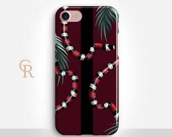 Snake Phone Case For iPhone 8 iPhone 8 Plus iPhone X Phone 7 Plus iPhone 6 iPhone 6S  iPhone SE Samsung S8 iPhone 5 Taylor Swift Reputation