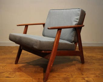 1960s Danish teak armchair with new cushions