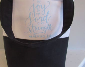 Bible Tote Bag - School Bag - Gifts for Women - Teacher Gifts - Joy of the Lord Tote Bag - Bible Bag - Custom Tote Bag