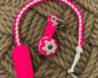 Handmade Paracord Key Fob and Lanyard Set