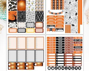 Halloween Weekly Kit Erin Condren Vertical , Halloween Weekly Kit Planner Stickers  – S