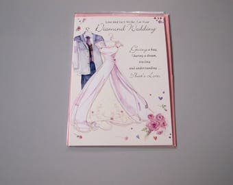 Love and Best Wishes on Your Diamond Wedding Card