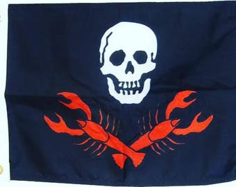 Pirate Lobster (Various Sizes) Screen-printed Flag