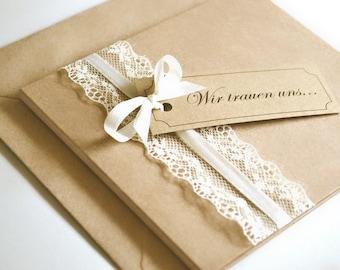 Invitation Cards 12.5 x 13.9 cm-vintage-for wedding