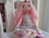 """Tilda doll """"Lara"""", Tilda Doll, Fabric toys, Cloth Doll, Decorative Doll, Child Toys, Handmade Doll, Fabric Doll, Rag Doll, Pattern doll"""