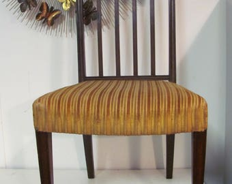 Vintage Classical Regency Mahogany Side Chair