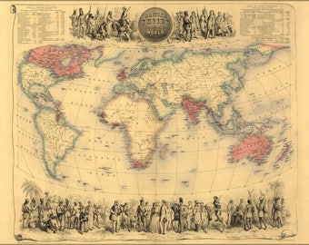 Poster, Many Sizes Available; Map Of British Empire Throughout The World 1850