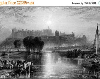 20% Off Sale - Poster, Many Sizes Available; Windsor Castle William Miller 1838