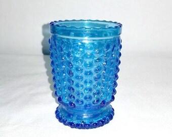 Vintage Hobnail Toothpick Holder,Cobalt Blue Candle Holder,Sapphire Blue,Blue Hobnail Matchstick Holder,Vintage Glass,Blue Glass,Cobalt Blue