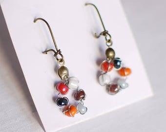 Seed ring - earrings