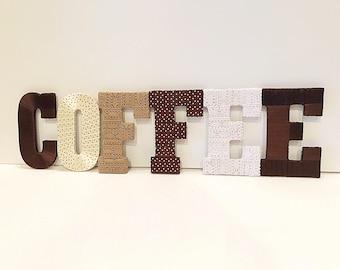 Coffee Home Decor, Coffee Kitchen Decor, Coffee, Coffee Letters, Kitchen Decor, Coffee Lover Gift,Coffee Shop Decor, Tightly Wound Designs