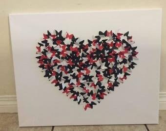 3D butterfly canvas art