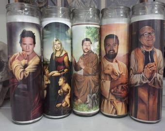 Its Always Sunny in Philadelphia Dennis D Charlie Mac Frank Prayer Candles