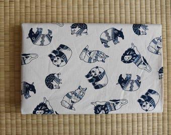 animal fabric for 1/2 yard