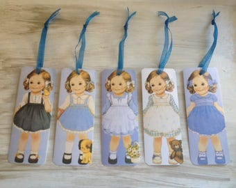 Set of 5 Bookmarks Collection dolls
