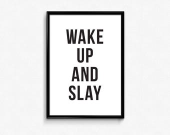 Slay room decor etsy for Cool posters for your room