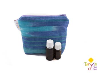 Small Essential Oil Carry Case, Purple and Turquoise Purse Saver, Young Living Oil Case, doTerra Storage Bag, Essential Oils Travel Case